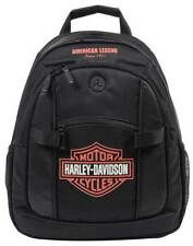 Harley-Davidson Bar & Shield Day Back Pack, Orange Logo, Black BP1968S-ORGBLK