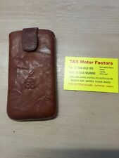 Apple iPhone 6 Sleeve Style Case  Genuine Leather Creased Dark Brown Tan