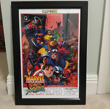 "CAPCOM Marvel vs Street Fighter Arcade Poster 12"" x 18"" size"