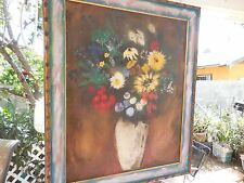 Antique Post Impressionist Colorful Floral Oil Painting s by RonReme' Circa 60's