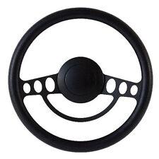 NEW!! Hot Rod Street Rod Rat Rod w/Ididit GM Column Black Steering Wheel Kit