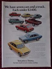 1972 Print Ad Toyota Cars & Pickup Trucks ~ Corolla, Corona, Carina, Half-Ton