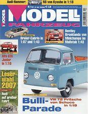 Zeitschrift Modell Fahrzeug 4 2007 Audi R8 R10 TDI Peugeot 905 LM BMW 3.0 CSL