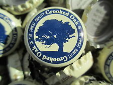 100 (( Crooked Oak )) Root Beer Bottle Caps (No Dents).