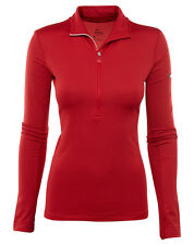 Nike Pro Hyperwarm Womens 803120-687 Red Ember Dri-Fit Training Top Shirt Size L
