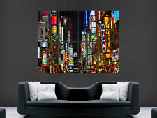 JAPAN TOKYO NEON SHOP SIGNS ART WALL LARGE IMAGE GIANT POSTER HUGE