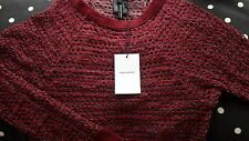 £255 Isabel Marant holes chic top. wine red. Sz 1 (8uk 36Fr 36eur 40Italy). new