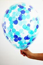 Blue Confetti Balloon Party Decoration - large 40cm size- Boy Baby shower!