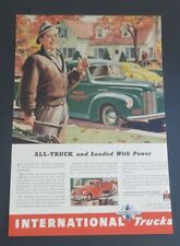 Original 1942 Print Ad INTERNATIONAL TRUCK Home Builders All-Truck Loaded Power
