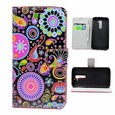 Cell Phone Stand Card Holder Wallet Flip Leather Case Cover For LG G2 D802