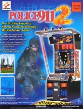 2000 KONAMI POLICE 911 2 VIDEO FLYER MINT