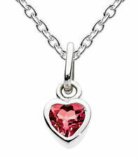 "Dew ""Simply Sterling Silver"" Birthstone Necklace With Chain July Synthetic Ruby"