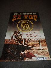 """ZZ TOP - LIVE: GREATEST HITS - ORIGINAL ROLLED PROMO POSTER - 11"""" X 17"""""""