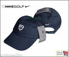 BRAND NEW GENUINE NIKE GOLF CLUB SWOOSH NAVY BLUE COTTON BASEBALL CAP UNISEX HAT