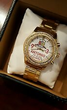 NEW PERSONALIZED KAPPA ALPHA PSI FRATERNITY CUSTOM MADE GOLD WATCH WITH CRYSTALS