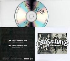 CHAS & DAVE One Fing 'n' Anuvver 2016 UK 2-trk promo test CD