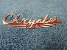 1949 CHRYSLER TOWN & COUNTRY ROYAL WOODY HOOD EMBLEM NOS MOPAR 615