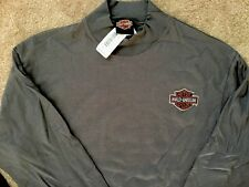 Harley Davidson Bar and Shield Long Sleeve dark gray Mock Shirt Nwt Men's Large