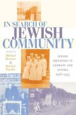 In Search of Jewish Community: Jewish Identities in Germany and Austria, 1918-19