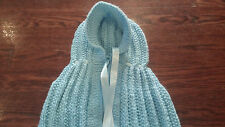 Hand Knitted Baby Bunting/Sleepsack/Cocoon/Snuggle /Cuddle Baby Blue