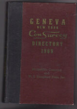 Geneva NY Con Survey Directory 1969 Business Households Phone