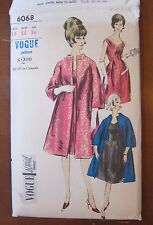 Vogue Special Design Dress and Coat pattern Bust size 34  Vintage uncut