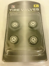 Mercedes-Benz Valve Dust Air Cap Alloys Wheel Tyre Black Cap Set of 4