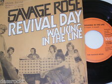 """7"""" - Savage Rose / Revival Day & Walking in the Line - 1971 # 3333"""