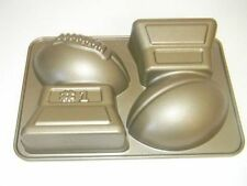 Nordic Ware Championship Football Cake Pan Non Stick Gold 10 Cup