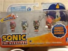 Sonic the Hedgehog Special Flocked Miniature Figures Knuckles Shadow Amy New Box