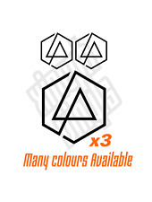 3 Linkin Park vinyl sticker decal  cd car  tshirt logo set One More Light