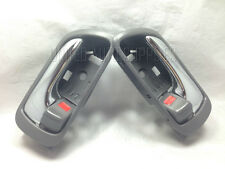 Pair Set, Front=Rear, Inside Door Handle Chrome+Gray for 02-06 Toyota Camry