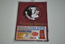 FLORIDA STATE SEMINOLES FSU FOOTBALL GARNET DRAW STRING LAUNDRY BAG