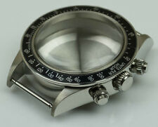 NEW Stainless steel watch case polished generic rolex newman & ETA cases bezel