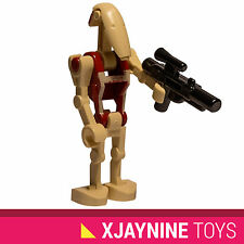 GENUINE LEGO STAR WARS Red Security Battle Droid Minifig + Blaster Gun NEW