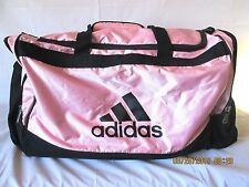 Adidas Light Pink and Black Large Duffel Gym Sport Travel Bag NICE