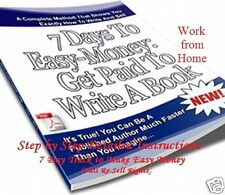 CD - Easy Money - Get Paid to Write a Book in 7 Days - eBook (Re-Sell Rights)