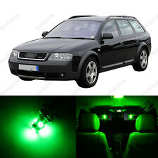 22 x Error Free Green LED Interior Light Package For 2001 - 2005 Audi Allroad C5