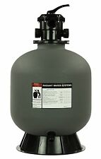 """Rx Clear Radiant 24"""" Inch In-Ground Swimming Pool Sand Filter w/6-Way Valve"""