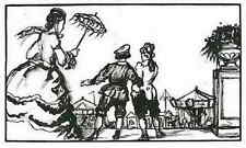 Auf dem WEG zum JAHRMARKT - Émilien DUFOUR - OriginalHolzschnitt 1925 - FERIA