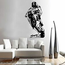 MARCO SIMONCELLI 58  WALL ART 03 motorcycle racer decal graphic adhesive UNIQUE