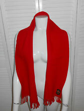 RED CASHMERE LAMBSWOOL SHAWL/PASHMINA/SCARF WITH FRINGE, MADE IN ITALY, NICE!