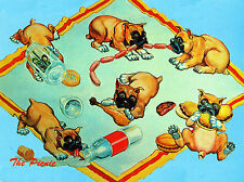 BOXER GROUP OF NAUGHTY PUPPIES LOVELY DOG GREETINGS NOTE CARD
