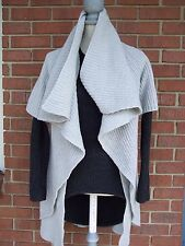 THEORY Wool Blend Light Grey Short Sleeve Cardigan  US P can fit S or XS