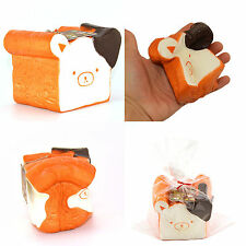 11CM New Jumbo Rilakkuma Squishy Cellphone Strap Bread Scent Toast Slow Rising