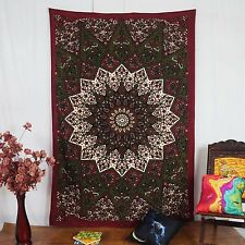 Mandala indien Tenture coton Tapisserie Lits Taille multi Color Decor Throw