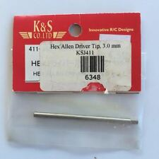 KSJ411 Hardened Hex Allen Driver Tip 3.0mm New In Package Made In Japan