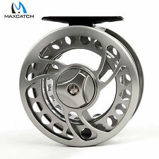Fly Reel 5/6WT CNC Machined Aluminium Gunsmoke Fly Fishing Reel & Reel Bag