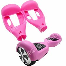 "Hi-Q Silicone Silikon Cover For 6.5"" Hoverboard Balance Scooter 2 Wheels Pink"