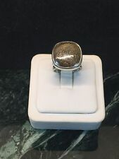 SILPADA Sterling Silver BRONZITE Stone STATEMENT Ring R1738 Size 8